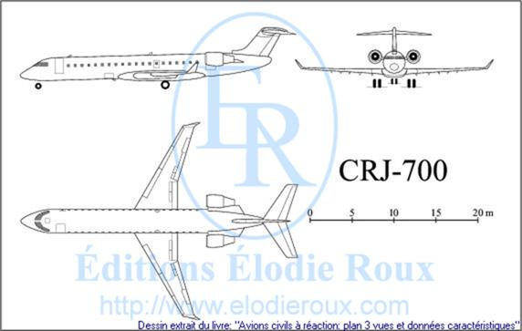 Copyright: Elodie Roux/CRJ700 3-view drawing/plan 3 vues