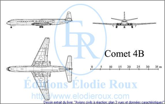 Copyright: Elodie Roux/Comet4B 3-view drawing/plan 3 vues