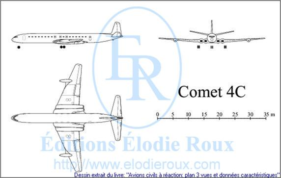 Copyright: Elodie Roux/Comet4C 3-view drawing/plan 3 vues