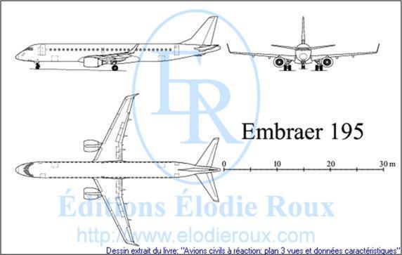 FMA IA-58 Pucará - Página 39 3viewDrawingsPlan3vuesEMBRAER195