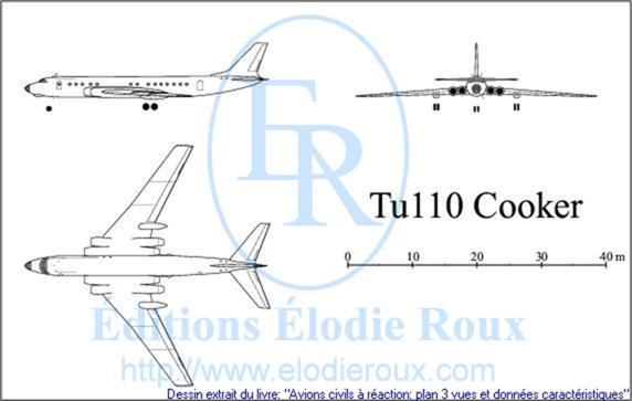 Copyright: Elodie Roux/Tu110 3-view drawing/plan 3 vues